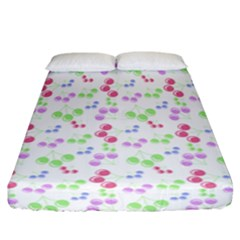 Candy Cherries Fitted Sheet (california King Size) by snowwhitegirl