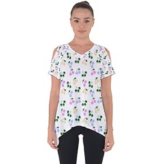 Green Cherries Cut Out Side Drop Tee