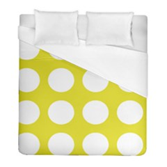 Big Dot Yellow Duvet Cover (full/ Double Size) by snowwhitegirl