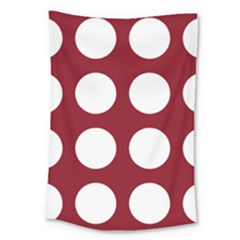 Big Dot Red Large Tapestry