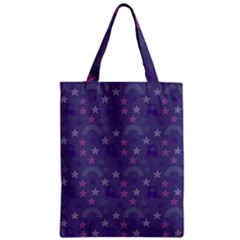 Music Stars Blue Zipper Classic Tote Bag by snowwhitegirl