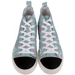 Music Stars Sky Blue Men s Mid-top Canvas Sneakers