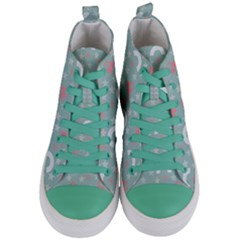 Music Stars Sky Blue Women s Mid-top Canvas Sneakers