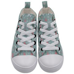 Music Stars Sky Blue Kid s Mid-top Canvas Sneakers