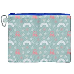 Music Stars Sky Blue Canvas Cosmetic Bag (xxl) by snowwhitegirl