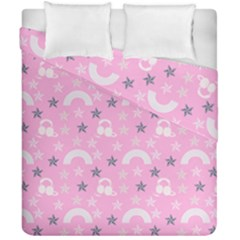 Music Star Pink Duvet Cover Double Side (california King Size)