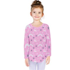 Music Star Pink Kids  Long Sleeve Tee by snowwhitegirl