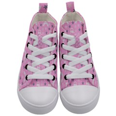 Music Star Pink Kid s Mid-top Canvas Sneakers