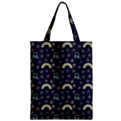 Music Stars Dark Teal Zipper Classic Tote Bag by snowwhitegirl