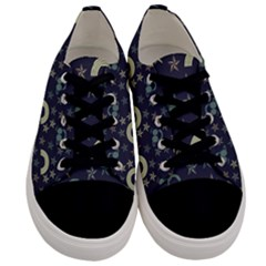 Music Stars Dark Teal Men s Low Top Canvas Sneakers