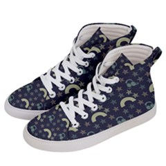 Music Stars Dark Teal Women s Hi Top Skate Sneakers by snowwhitegirl
