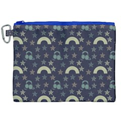 Music Stars Dark Teal Canvas Cosmetic Bag (xxl) by snowwhitegirl