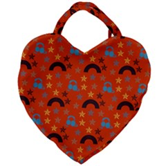 Music Stars Red Giant Heart Shaped Tote by snowwhitegirl