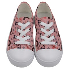 Music Stars Peach Kids  Low Top Canvas Sneakers