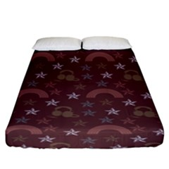 Music Stars Brown Fitted Sheet (king Size) by snowwhitegirl