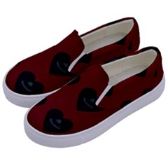 Cupcake Blood Red Black Kids  Canvas Slip Ons by snowwhitegirl