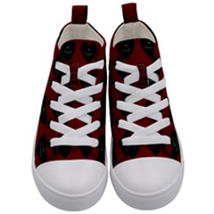 Cupcake Blood Red Black Kid s Mid Top Canvas Sneakers