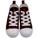 Cupcake Blood Red Black Kid s Mid-Top Canvas Sneakers View1