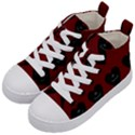 Cupcake Blood Red Black Kid s Mid-Top Canvas Sneakers View2