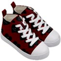 Cupcake Blood Red Black Kid s Mid-Top Canvas Sneakers View3