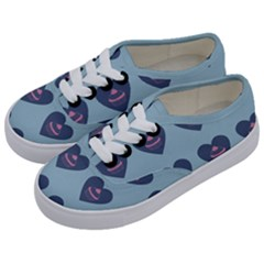 Cupcake Heart Teal Blue Kids  Classic Low Top Sneakers by snowwhitegirl