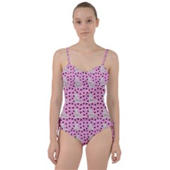 Deer Boots Pink Grey Sweetheart Tankini Set