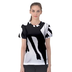 Pole Dancer Silhouette Women s Sport Mesh Tee