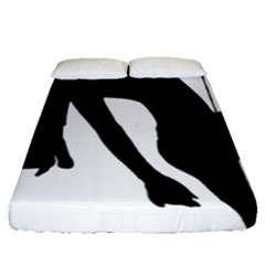 Pole Dancer Silhouette Fitted Sheet (queen Size)