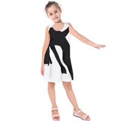 Pole Dancer Silhouette Kids  Sleeveless Dress by Jojostore