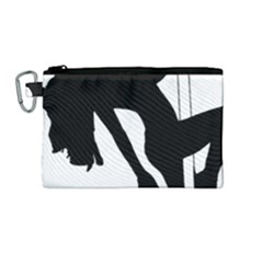 Pole Dancer Silhouette Canvas Cosmetic Bag (medium) by Jojostore