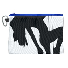 Pole Dancer Silhouette Canvas Cosmetic Bag (xl) by Jojostore