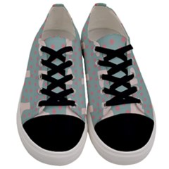 Deer Boots Blue White Men s Low Top Canvas Sneakers