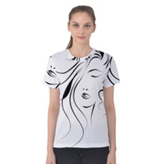 Womans Face Line Women s Cotton Tee