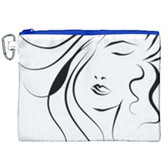 Womans Face Line Canvas Cosmetic Bag (xxl) by Jojostore