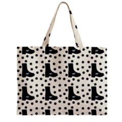 Deer Boots White Black Zipper Mini Tote Bag by snowwhitegirl