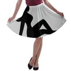 Girls Of Fitness A Line Skater Skirt