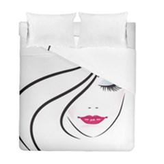 Makeup Face Girl Sweet Duvet Cover Double Side (full/ Double Size) by Mariart