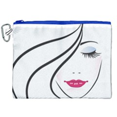Makeup Face Girl Sweet Canvas Cosmetic Bag (xxl) by Mariart