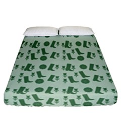 Green Boots Fitted Sheet (california King Size) by snowwhitegirl
