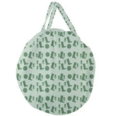 Green Boots Giant Round Zipper Tote by snowwhitegirl