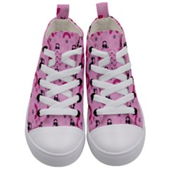 Music Stars Rose Pink Kid s Mid-top Canvas Sneakers