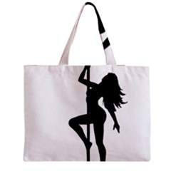 Dance Silhouette Pole Dancing Girl Medium Tote Bag by Alisyart