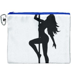 Dance Silhouette Pole Dancing Girl Canvas Cosmetic Bag (xxxl)