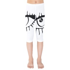 Drawn Eye Transparent Monster Big Kids  Capri Leggings  by Alisyart