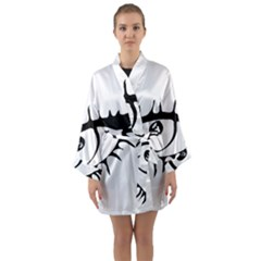 Drawn Eye Transparent Monster Big Long Sleeve Kimono Robe