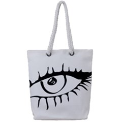 Drawn Eye Transparent Monster Big Full Print Rope Handle Tote (small)