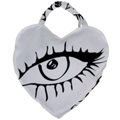 Drawn Eye Transparent Monster Big Giant Heart Shaped Tote by Alisyart