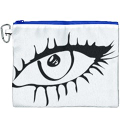 Drawn Eye Transparent Monster Big Canvas Cosmetic Bag (xxxl)