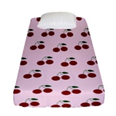 Pink Cherries Fitted Sheet (single Size)