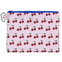 Pink Cherries Canvas Cosmetic Bag (xxl) by snowwhitegirl